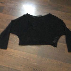 Zara crop knit shirt